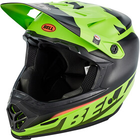 Bell Full-9 Fusion MIPS Casco, matte/gloss black/green